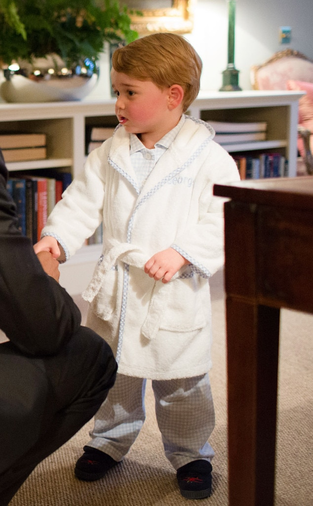 Relaxed in His Robe from Prince George\'s Cutest Photos | E! News