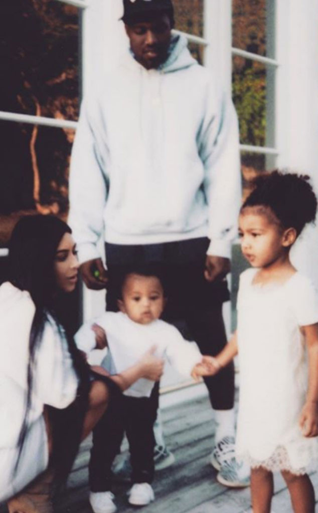 Kim Kardashian, North West, Saint West, Kanye West