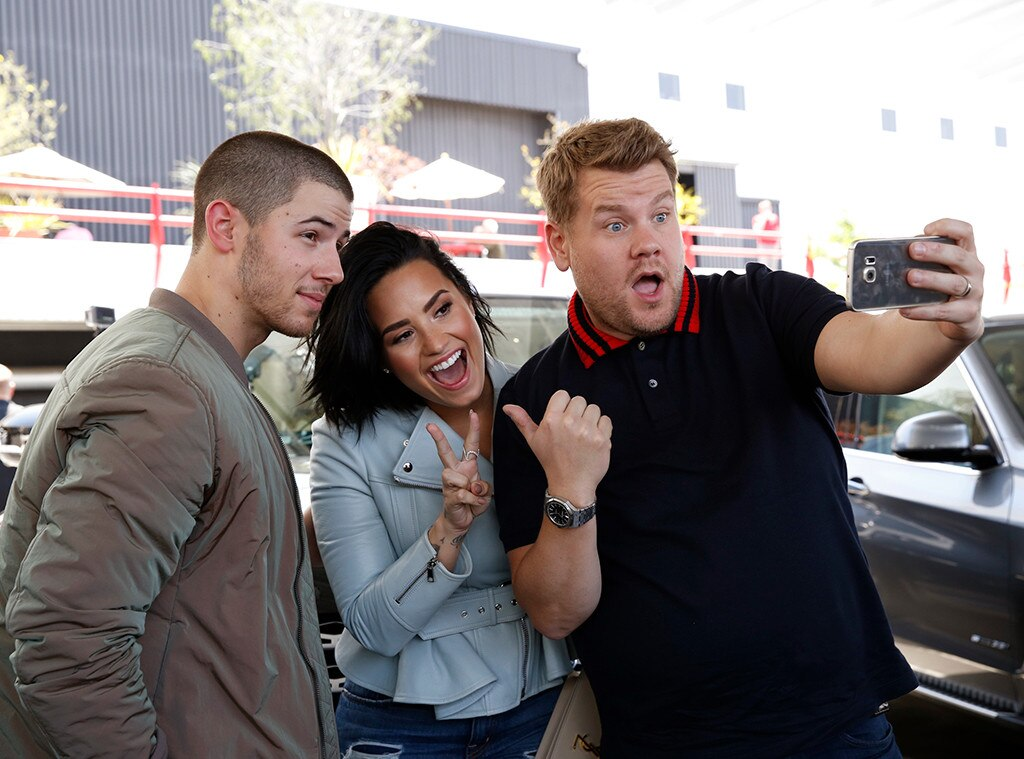 Nick Jonas, Demi Lovato, James Corden, Carpool Karaoke