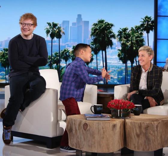 Ed Sheeran, Ellen DeGeneres