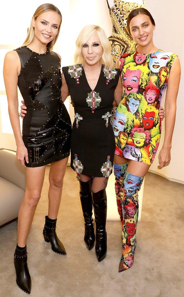Natasha Poly, Donatella Versace,  Irina Shayk