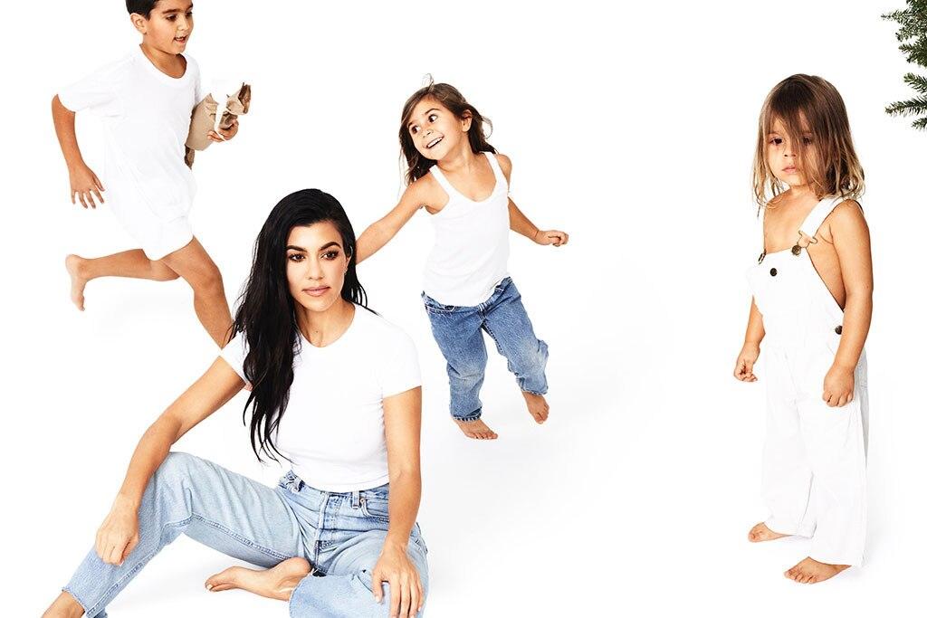 Kourtney Kardashian, Christmas Card, Reign Disick, Mason Disick, Penelope Disick