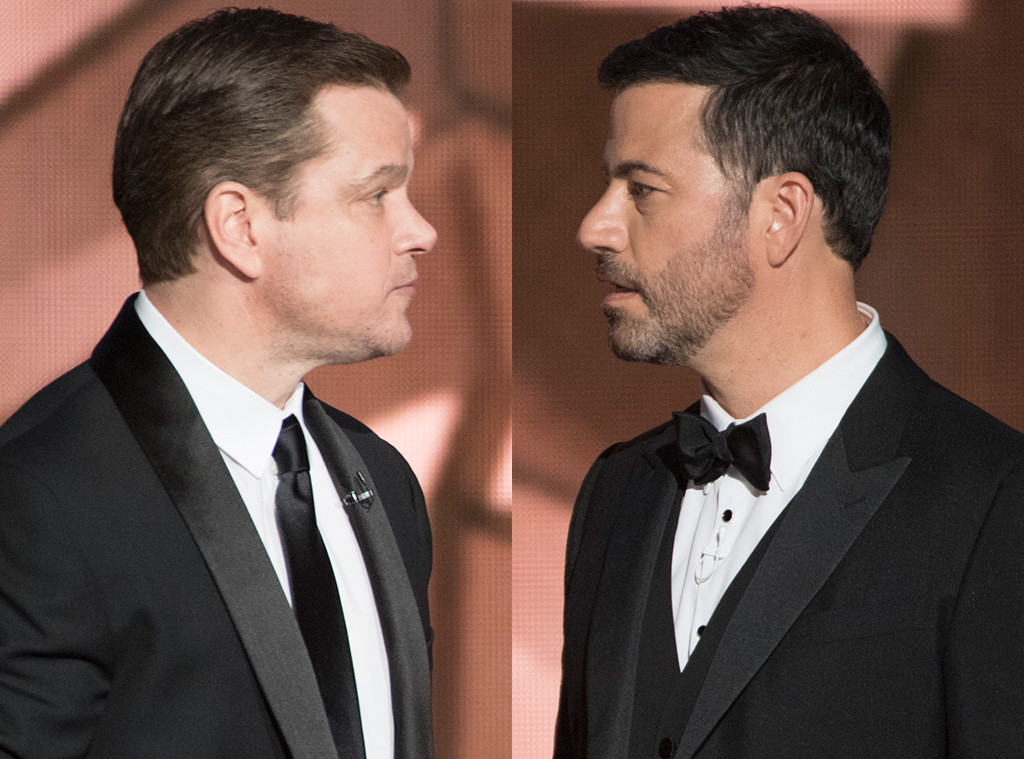 jimmy kimmel and matt damon s feud is alive and well at the 2017