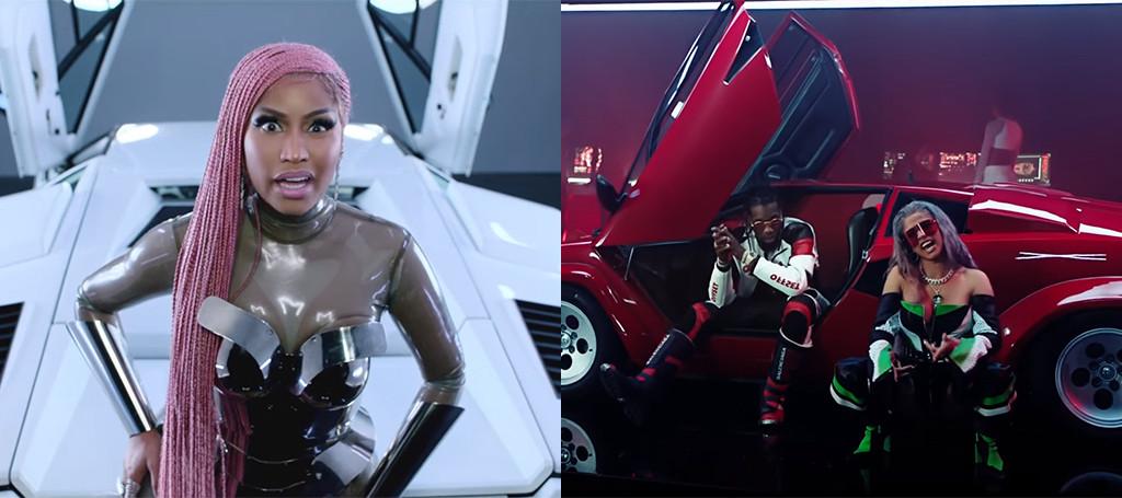 Nicki Minaj Cardi B and Migos Team Up for Futuristic MotorSport Video | E! News
