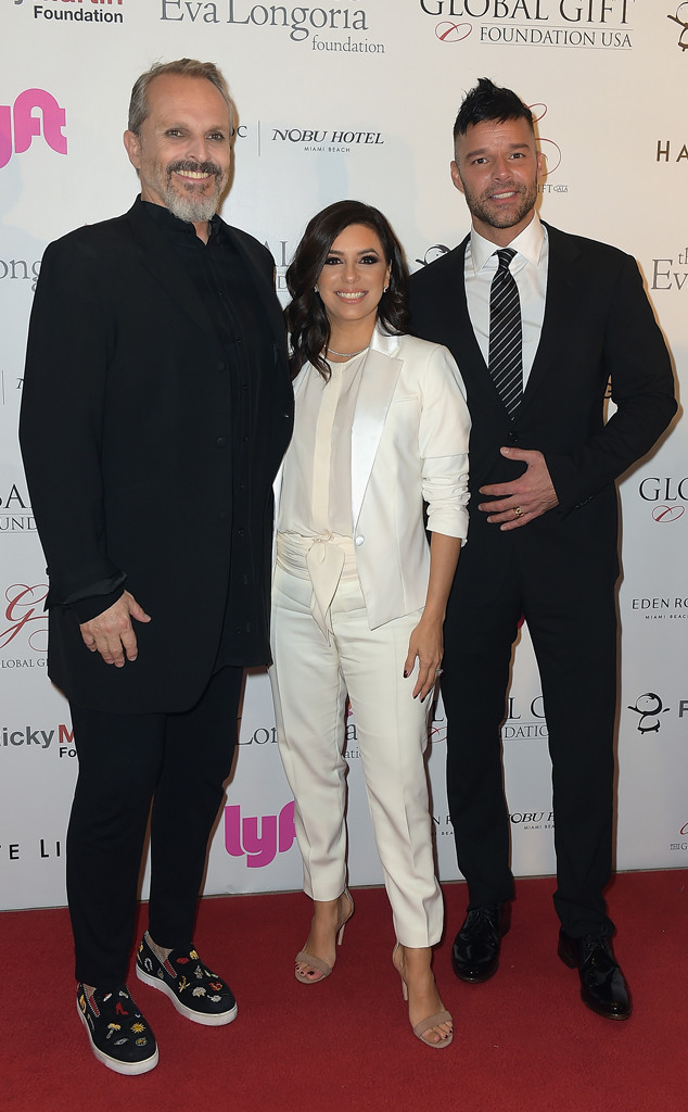 Miguel Bose, Ricky Martin, Eva Longoria