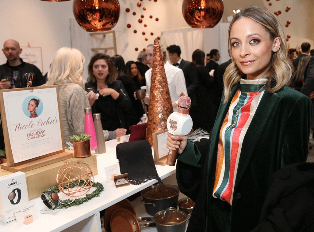 Nicole Richie -  So many great gifts, so little time! The actress  celebrates the opening of Jacques Penné, a JCPenney holiday boutique, in New York City.