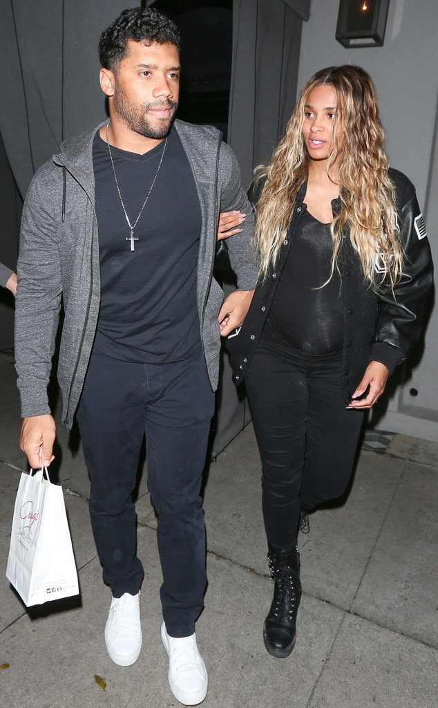 Ciara & Russell Wilson -  Eating for two!