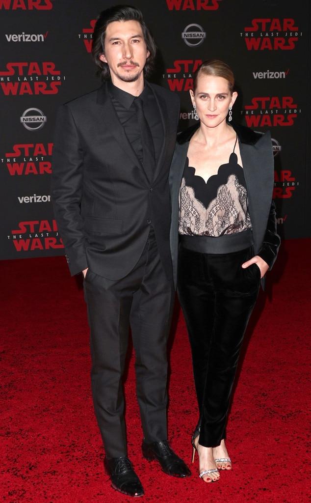 Adam Driver, Joanne Tucker, Star Wars Premiere