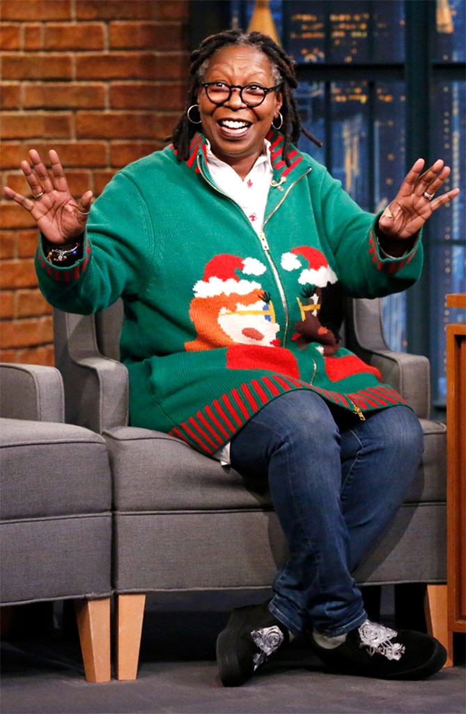 Whoopi Goldberg From Stars In Ugly Holiday Sweaters E News