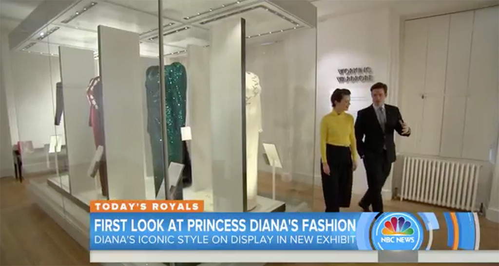 Today Tours New Princess Diana Fashion Exhibit At Kensington Palace E Online
