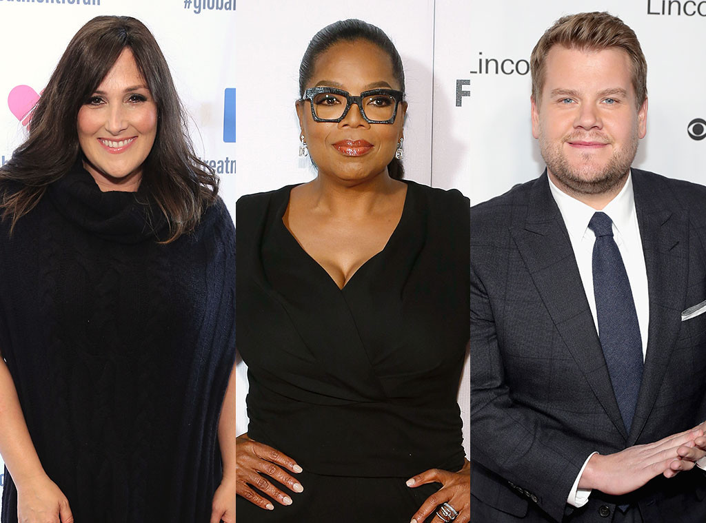 Oprah Winfrey, Ricki Lake, James Corden