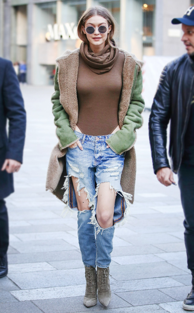 Saturday Savings: Gigi Hadid's Ripped Jeans Are Insanely Affordable—Only $50!