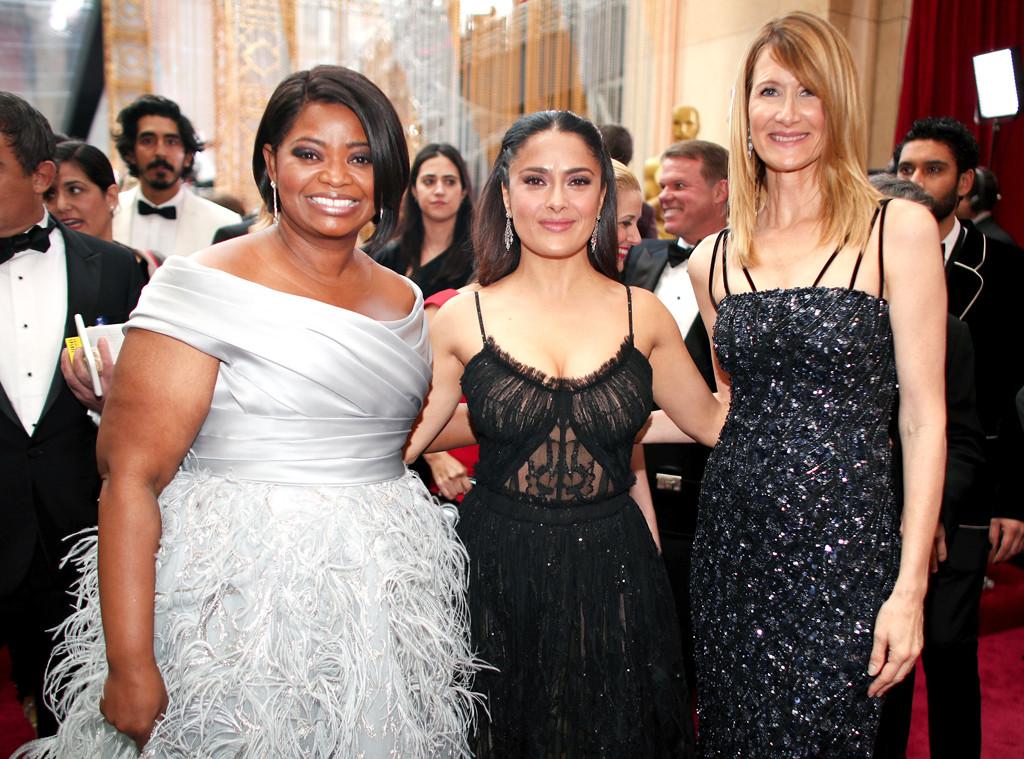 Octavia Spencer, Salma Hayek, Laura Dern, 2017 Oscars, Academy Awards, Candids