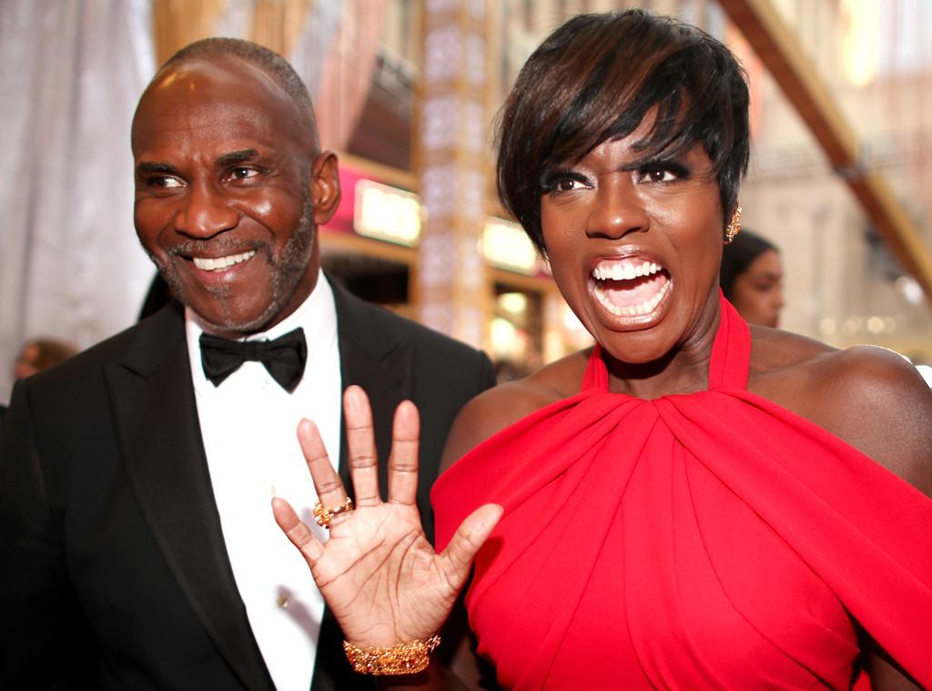 Julius Tennon, Viola Davis, 2017 Oscars, Academy Awards, Candids