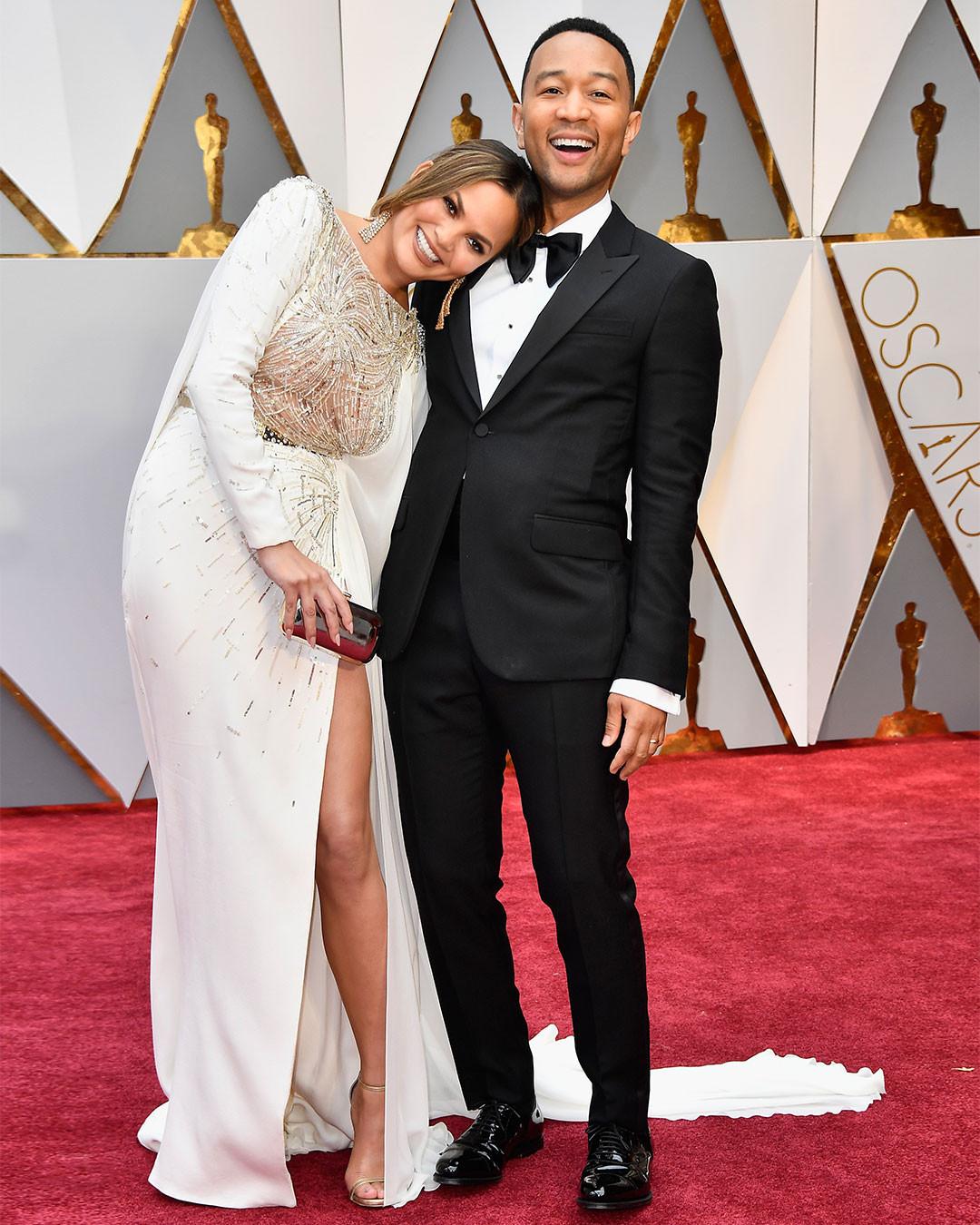 Chrissy Teigen, John Legend, 2017 Oscars, Academy Awards, Instagram