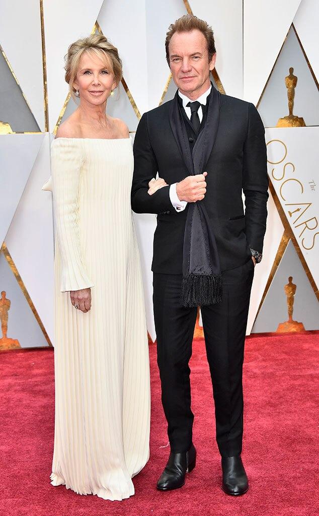 Trudie Styler, Sting, 2017 Oscars, Academy Awards, Couples
