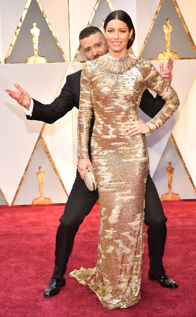 Jessica Biel, Justin Timberlake, 2017 Oscars, Academy Awards, Candids