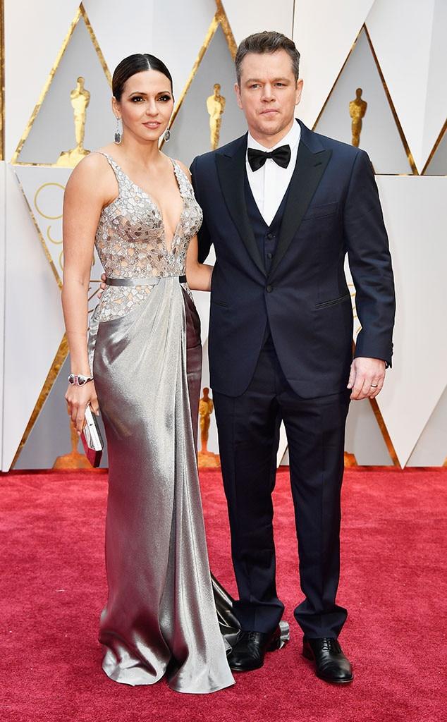 Luciana Barroso, Matt Damon, 2017 Oscars, Academy Awards, Couples