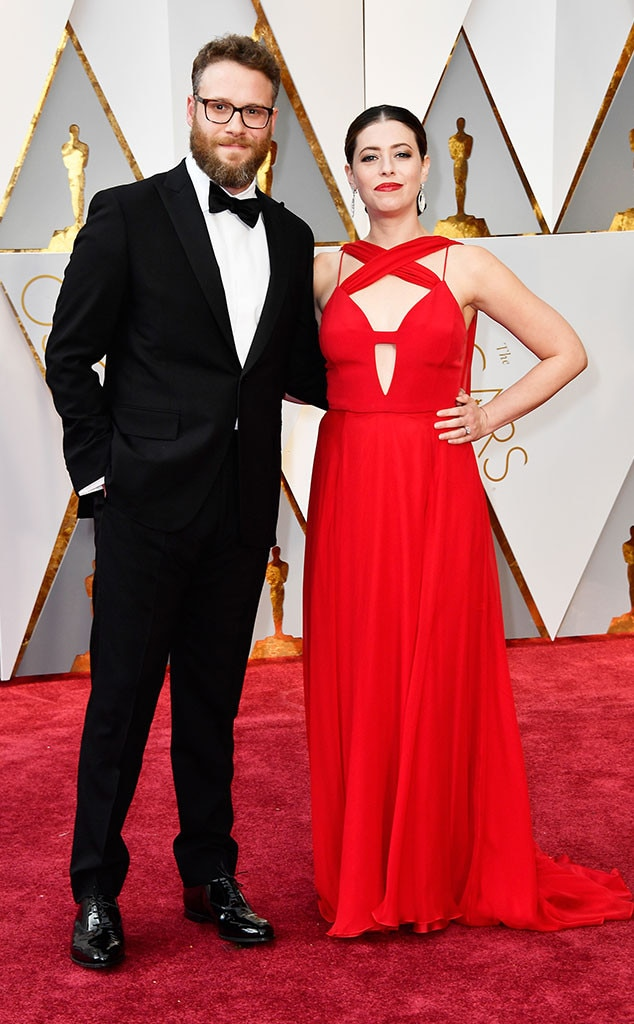Seth Rogen, Lauren Miller, 2017 Oscars, Academy Awards, Couples