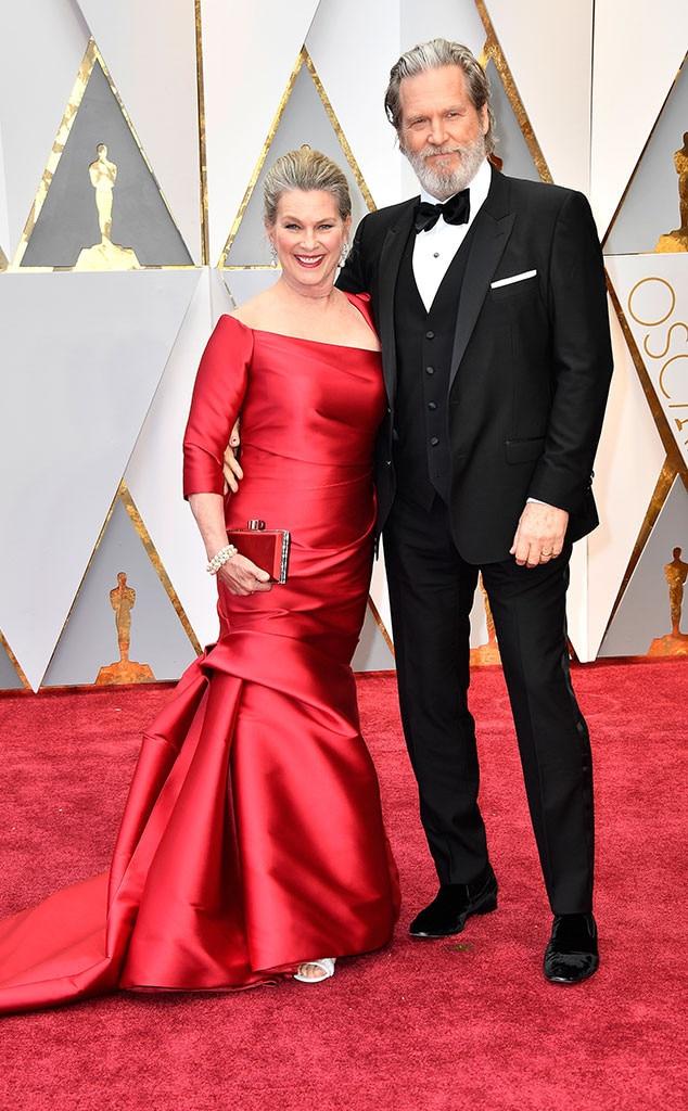 Susan Geston, Jeff Bridges, 2017 Oscars, Academy Awards, Couples