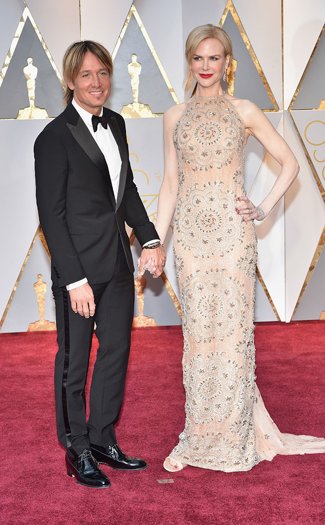 Keith Urban, Nicole Kidman, 2017 Oscars, Academy Awards, Couples