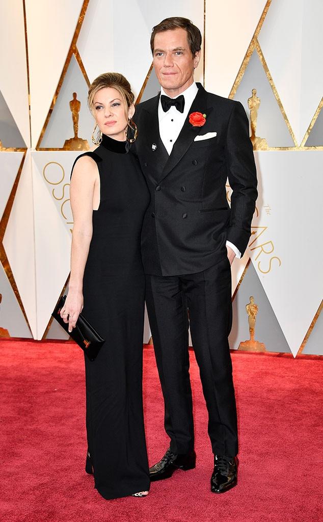 Michael Shannon, Kate Arrington, 2017 Oscars, Academy Awards, Couples