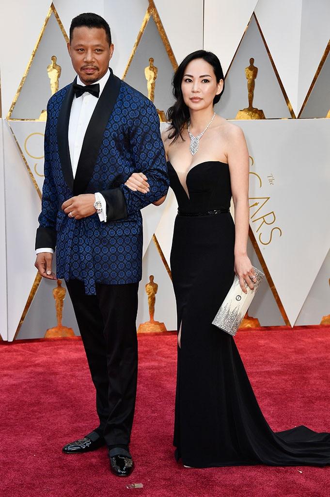 Terrence Howard, Mira Pak, 2017 Oscars, Academy Awards, Couples