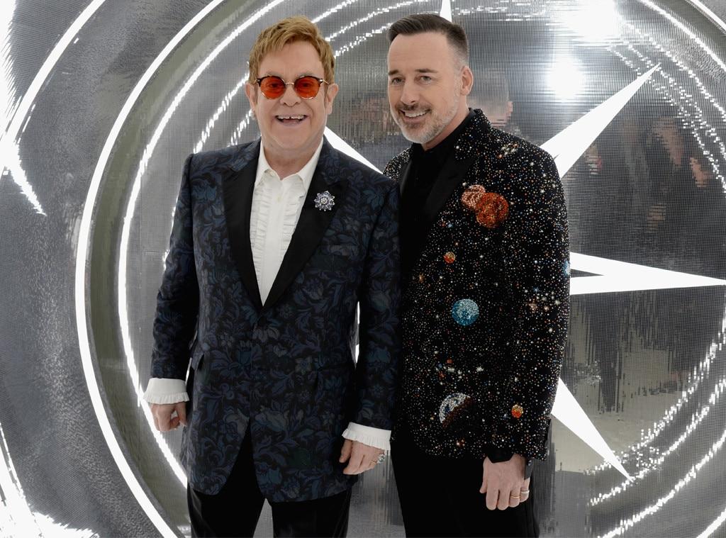 Elton John, David Furnish, 2017 Oscars Party Pics, Elton John Party