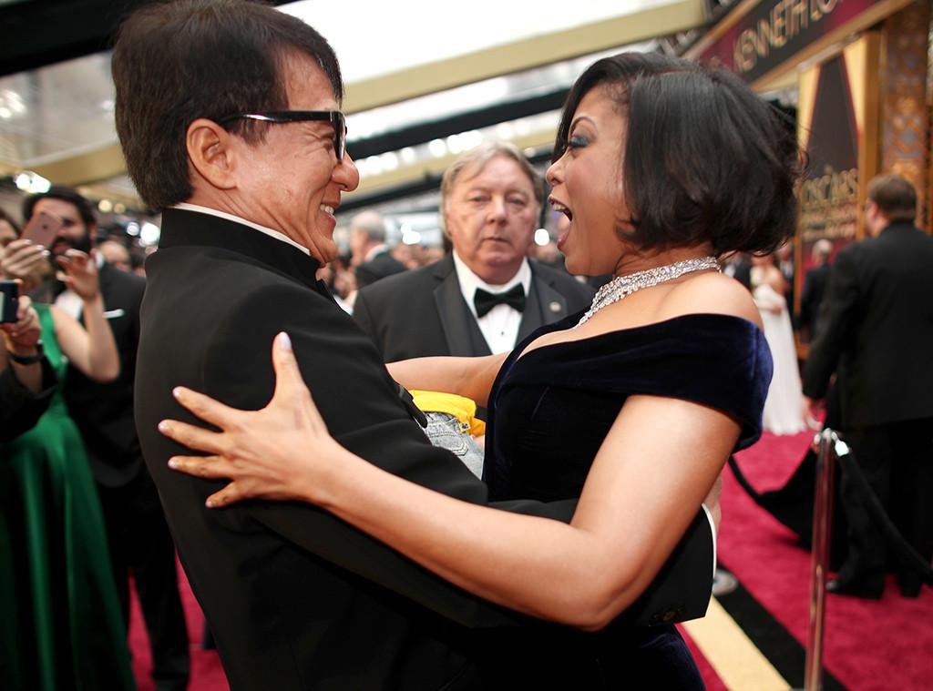 Jackie Chan, Taraji P. Heson, 2017 Oscars Party Pics, Vanity Fair