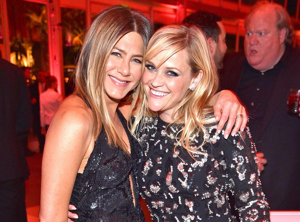 Jennifer Aniston, Reese Witherspoon, 2017 Vanity Fair Oscar Party