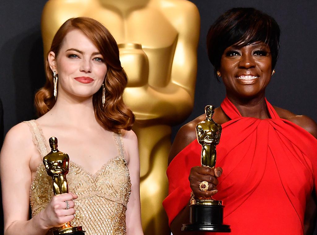 Emma Stone, Viola Davis, 2017 Oscars