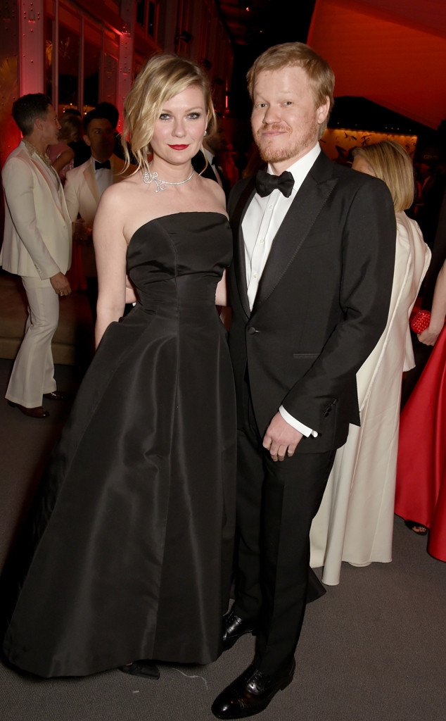 Kirsten Dunst, Jesse Plemons, 2017 Oscars, Vanity Fair After Party