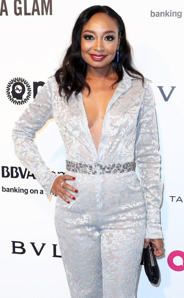 Malina Moye, 2017 Oscars Party Pics, Elton John Party