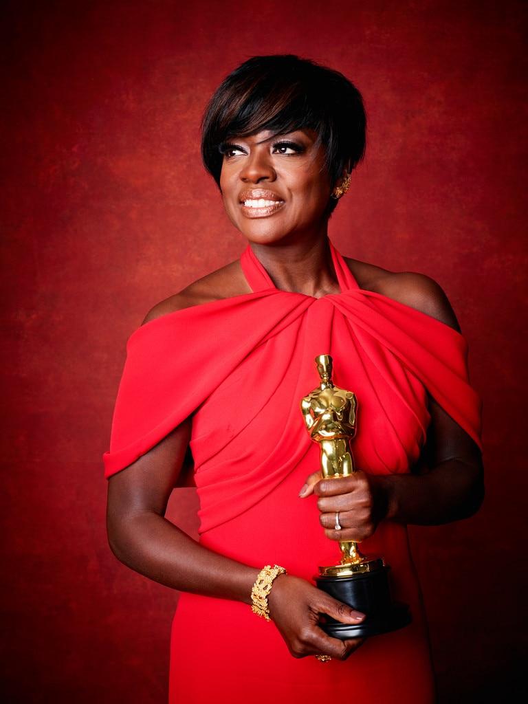 Viola Davis from 2017 Oscars Winners Portraits | E! News