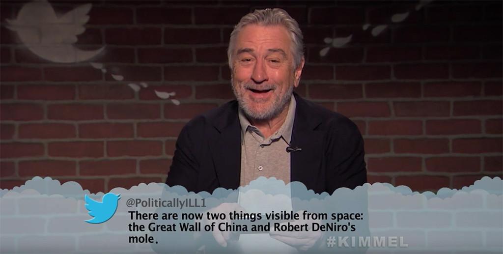 Robert De Niro, Mean Tweets