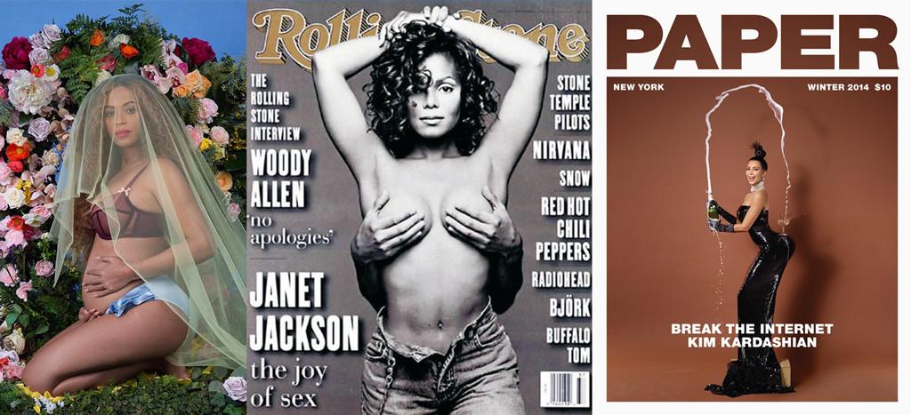 Beyonce, Pregnancy, Janet Jackson, Rolling Stone, Kim Kardashian, Paper Magazine, Iconic Celeb Photos