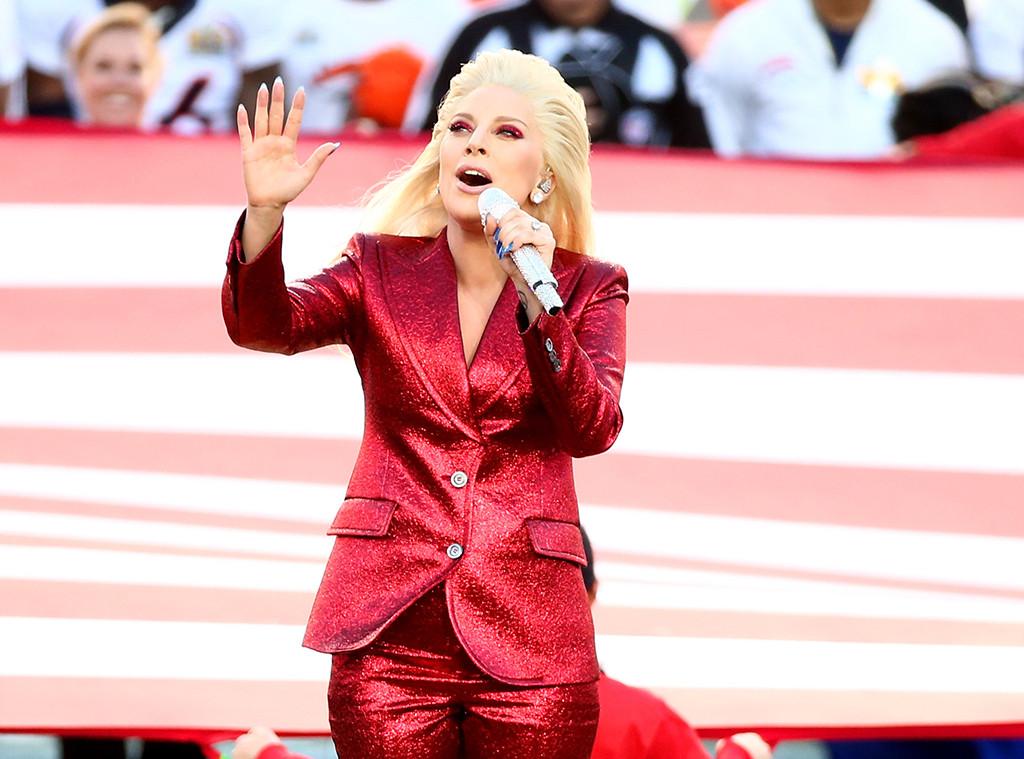Lady Gaga, 2016 Super Bowl 50, Anthem