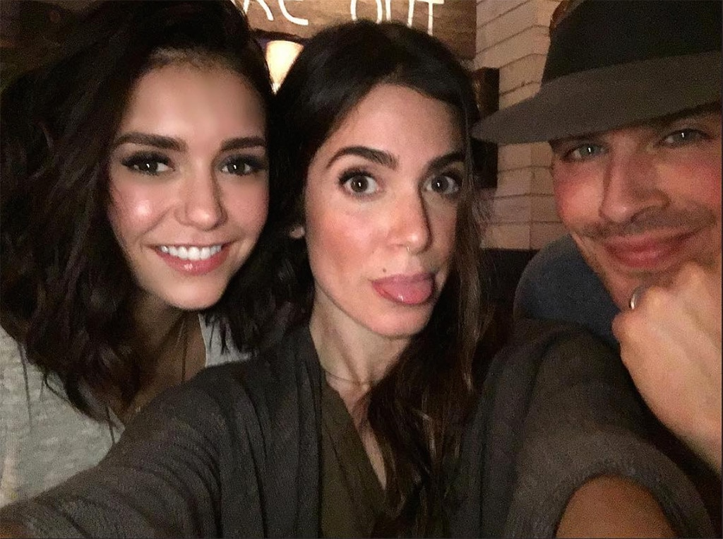 Image result for nina dobrev and nikki reed ian somerhalder
