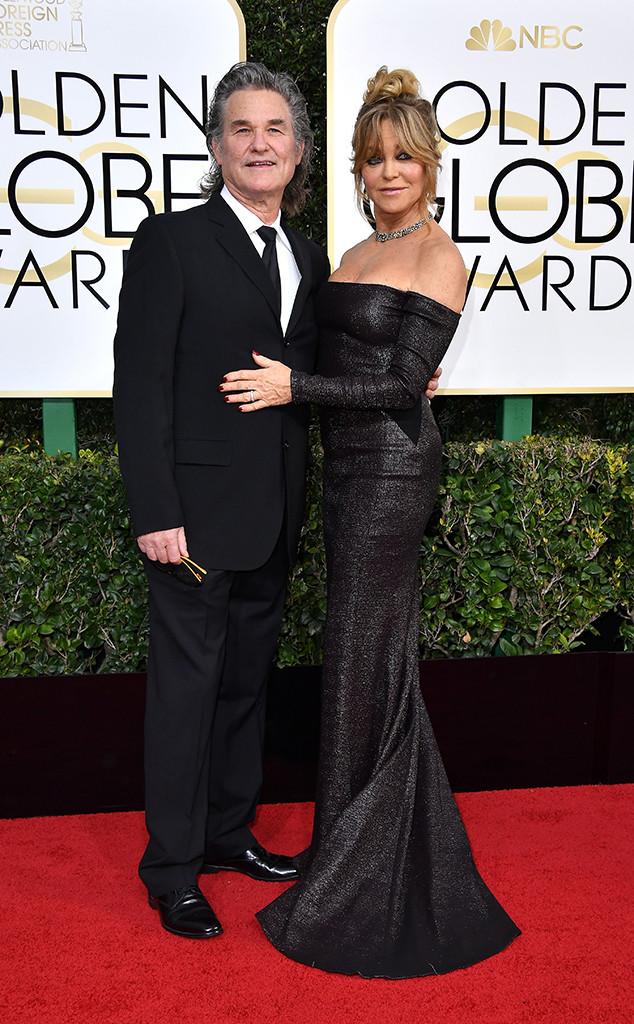 Kurt Russell, Goldie Hawn, 2017 Golden Globe Awards