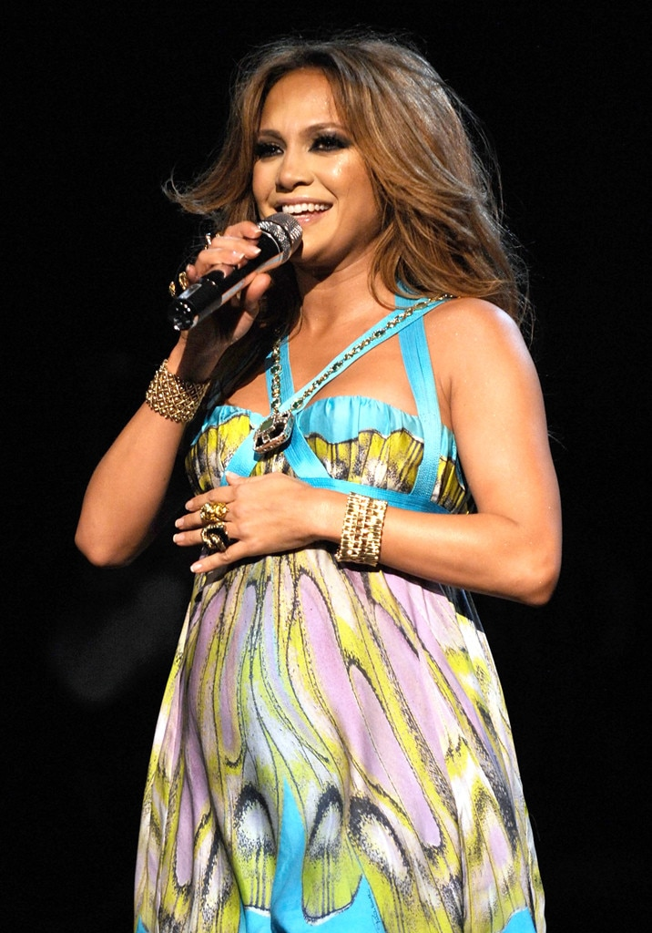 Jennifer Lopez From Pregnant Performers E News
