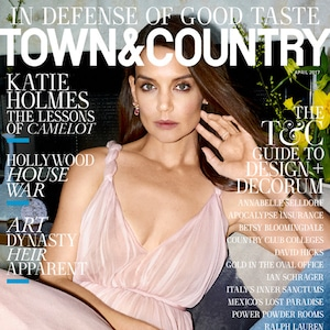 Katie Holmes, Town & Country Magazine, April 2017