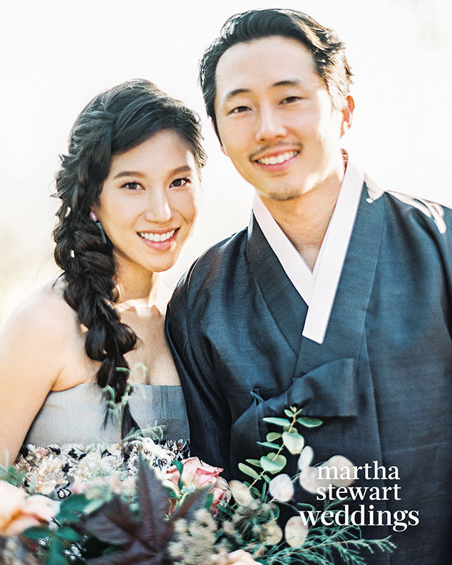 Steven Yeun, Walking Dead, Wedding