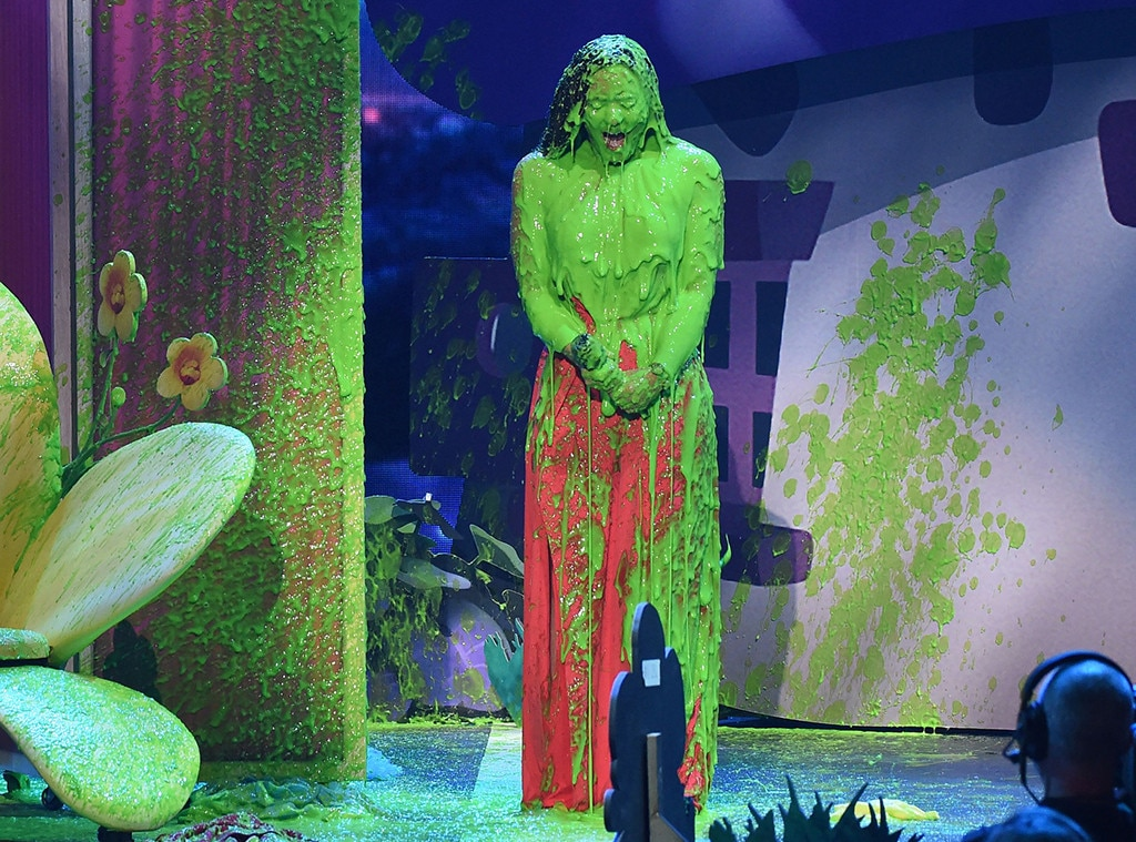 Demi Lovato -  The songstress might be a little sorry she got slimed at the 2017 awards.