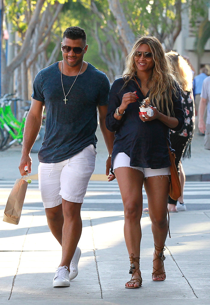 Car And Driver >> Pregnant Ciara Gets Ice Cream After Car Accident and as She and Russell Wilson Celebrate 1st ...