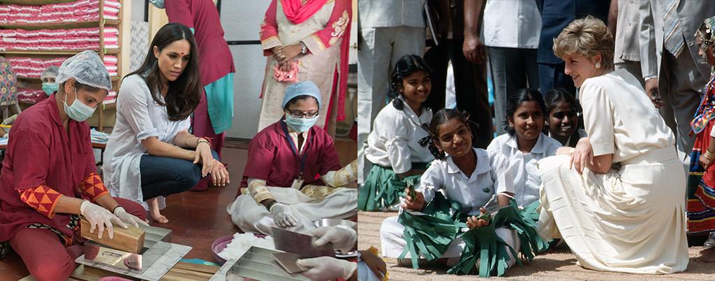 Meghan Markle, Princess Diana, India, Charity