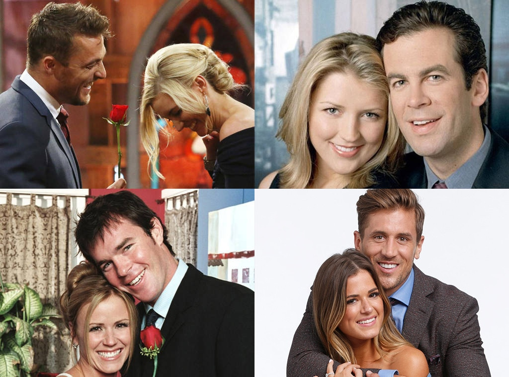 A Brief History of  Bachelor  and  Bachelorette  Finales -  Love is in the air...sometimes...for a few months, at least. Season after season of TV's most romantic reality show have come and gone.