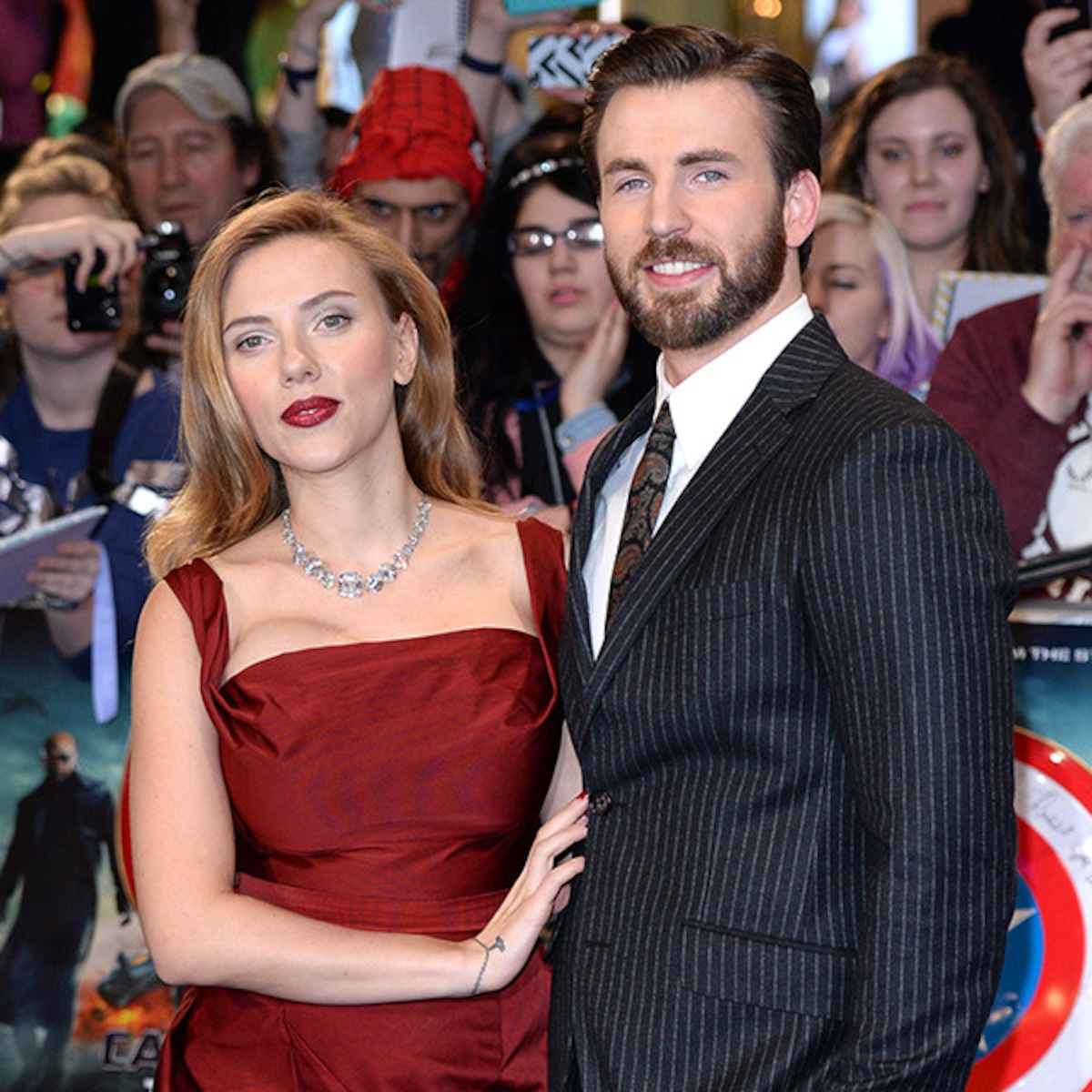 Why Marvel Fans Can T Stop Shipping Scarlett Johansson And Chris Evans E Online