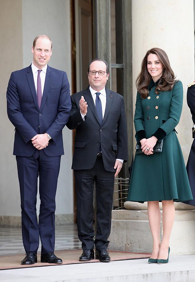 Prince William, Francois Hollande, Kate Middleton, Paris