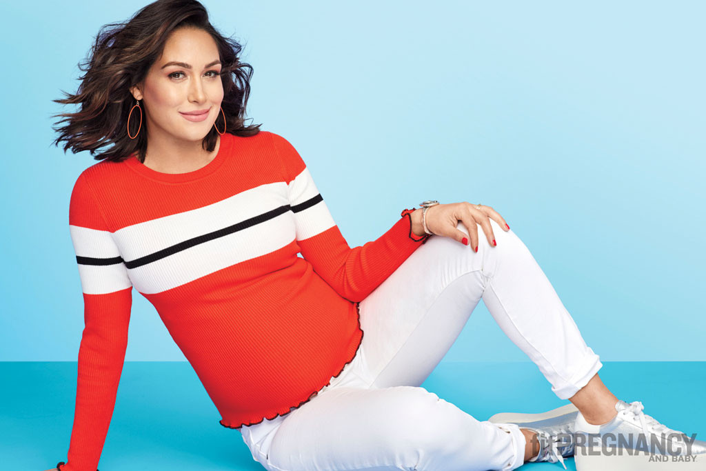 Brie Bella, Fit Pregnancy, April 2017