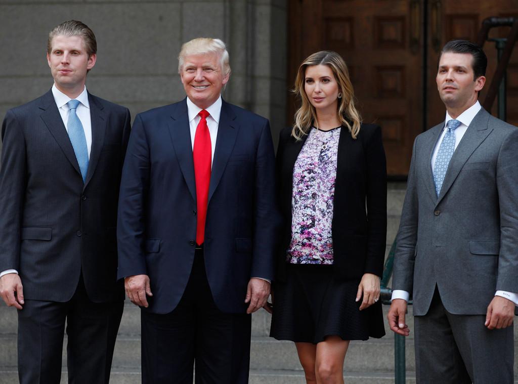 Eric Trump, Donald Trump,  Ivanka Trump, Donald Trump Jr.